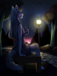 Commission - By The Park Light by MiaMaha