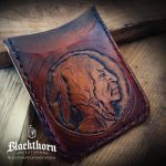 Indian Head Wallet by Blackthornleather