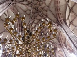 Chandeliers and vaulted ceiling by andersvolker