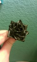 Mini Black Duct Tape Rose by cheyxlove
