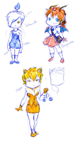 Pokemon Gijinka Set by MidnightPursona
