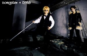 Shizuo and Izaya by songster69