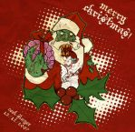 Zombie Santa by cool-slayer