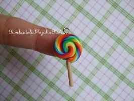 Lollipop Charm 1 - Rainbow by FunkadelicPsychoFish