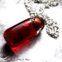 Blood Vial Necklace by LadyStarrlight