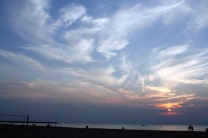 Wide Beach Sunset by Dramier