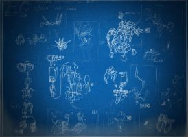 HG 1/144 Strike Gundam ver.2.0 Blueprints by CLeRu087