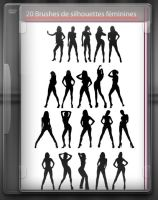 20 Silhouettes feminines by Nfsupro