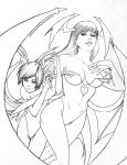 Morrigan and Lilith drawing by CanisPanthera