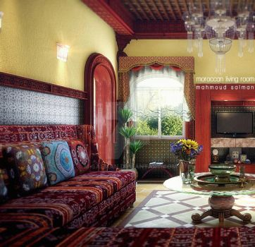 Moroccan living room by M-Salman
