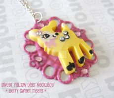 Sweet Yellow Deer Necklace by SabrinaDeeBerry