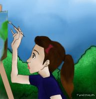 Girl painting by runwithwolfs