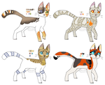 Cat adoptables 9 (CLOSED) by JocastaTheWeird