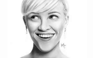 Reese Witherspoon - Digital Painting by laziee2ann