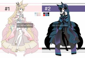 kitsune spirits day-night adoptables CLOSED by AS-Adoptables