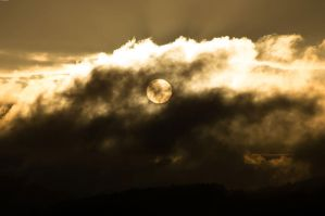 Sun behind clouds2 by Luks85