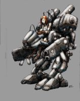 Old crusty mech by Galiford