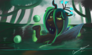 Chrysalis In Water by Auroriia