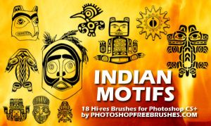 Indian Motifs PS Brushes by fiftyfivepixels