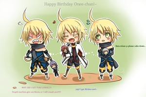 Symphonia Triplets wishes happy birthday by Akari-Scifo