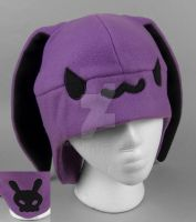 Purple Skull Bunny Hat by SewDesuNe
