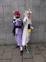 Sonic Rivals 2 pair cosplay by Hillokotka