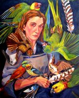 Self-Portrait with Birds by bluefooted