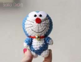 Tiny Doraemon - Amigurumi crochet doll plush by BramaCrochet