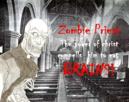 Zombie Priest by Retroabortion