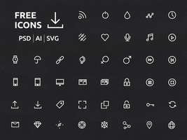 40 Ui Or Ux New Icons Set by freebiespsd