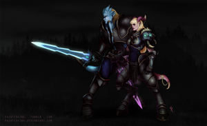 World of Warcraft- Death Knights by PaintedKing