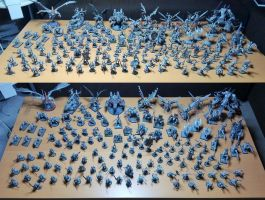 The Monochrome Legion (all my chaos miniatures) by McGoe