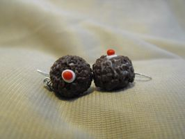 portal cake earrings by suzukoyan