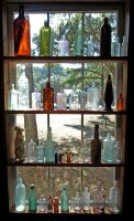 Window of Bottles by alimuse