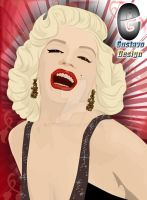 marilyn monroe by gdvectors