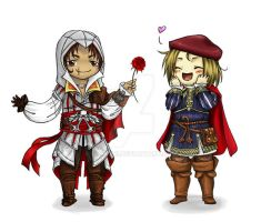 Assassin's Creed II Chibies by Lizzuzci