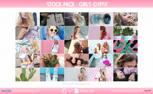 Stock pack: Girls gypsy. by Maleficeent