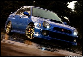 JDM WRX in the pouring rain by sectorgfx