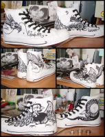 painted converse by Animadaru