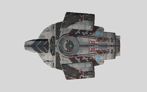 USS Destroyer top by HunterDarkWolf