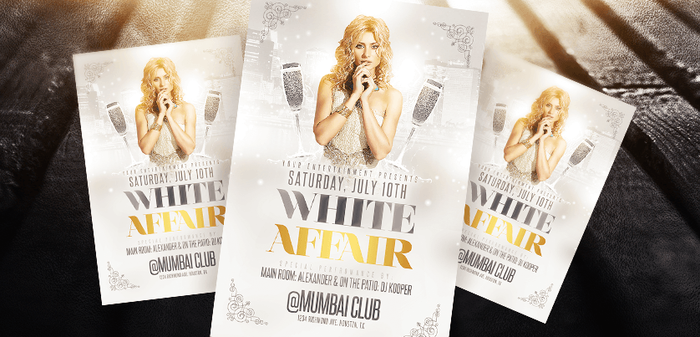 White Affair Party Flyer Template by LouisTwelve-Design
