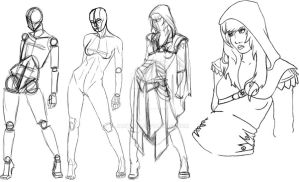 Assassin's Creed Concept girl process by jamt1989
