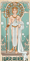 Poseidon, God of the Sea by Cor104