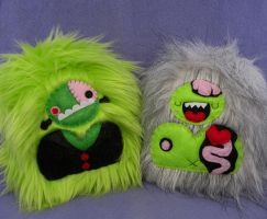 Frankenyeti and Zombiyeti by loveandasandwich