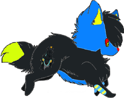 Luxray Wolf Adopt by Prettyxmouse