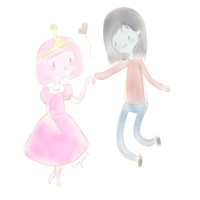 Young Princess Bubblegum and Young Marceline #2 by Thegirlins