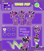 MLP Reference Sheet : Toxic Pop by chunk07x
