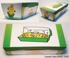 Packaging Mr. Arepa corn box by hktomoe