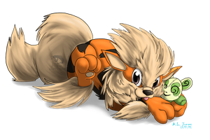 Little Arcanine by Cattensu