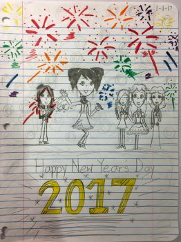 Happy New Year's Day! 2017 by Nkong775